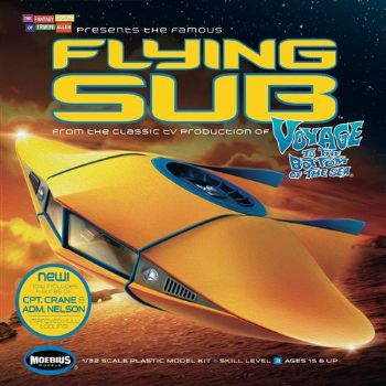 Voyage To The Bottom Of The Sea Flying Sub 1:32 Scale Model Kit Revised Version